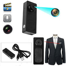 HD Button SPY Camera Camcorder Mini Hidden DV DVR Motion Activated Detection