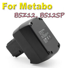 Heavy duty Electric Tool 2AH 12v Cordless Drill Battery for Metabo BSZ12 BS12SP
