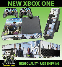 XBOX ONE Console Sticker Watch Dogs 2 City Hacker Marcus SKIN & 2 PAD SKINS