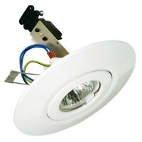 White Converter Ceiling Downlight Mains or 12 Volt KIT - 1000's SOLD !!