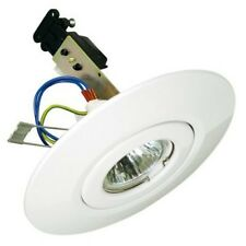 White Converter Ceiling Downlight Mains or 12 Volt KIT - 1000's SOLD !!