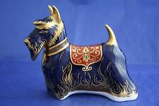 ROYAL CROWN DERBY SCOTTISH TERRIER SCOTTIE PAPERWEIGHT UNBOXED SECOND