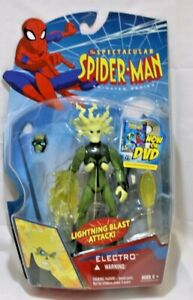 Marvel Spectacular Spider-Man Animated Series Electro Action Figure ToyBiz 2007
