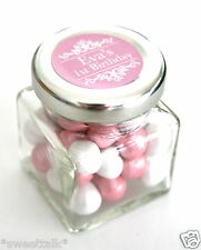 CHRISTENING, BAPTISM, BABY SHOWER BOMBONIERE FAVOUR, CANDY JAR WITH CHOCOLATES