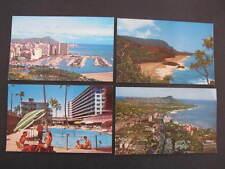 4 older Waikiki & Lumahai Beach Kauai Hawaii Postcards
