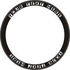 Custom Personal YOUR TEXT/Club/Name Bike Deep Rim Carbon Wheel Decals Stickers