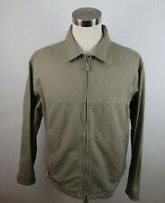 Columbia Mens Cotton Canvas LS Full Zip Solid Beige Outdoor Barn Coat Jacket L