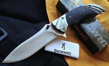 Couteau Browning Fluted Acier Inox Manche G-10 Ser Manche Green Alu/G-10 BR818