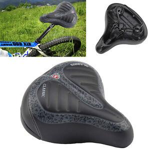 WIDE EXTRA BIKE SADDLE BIG BUM BICYCLE GEL CRUISER COMFORT SPORTY SOFT PAD SEAT