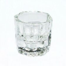 New Popular Octagonal Glass Cup Dappen Dish for Arcylic Nail Art Liquid Powder