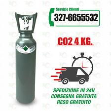 Bombola CO2, Anidride Carbonica da 4 Kg, nuova, carica, anche alimentare.
