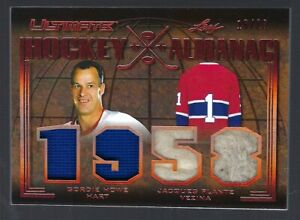 2019/20 LEAF ULTIMATE HOCKEY ALMANAC GORDIE HOWE/JACQUES PLANTE #16/20