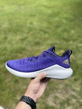 Brand New Adidas Alphabounce EF1226 Purple/Gold Running Shoes Size 13