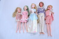 Takara Licca chan doll /Dress up doll /Lot 5 /All Made in Japan From Japan A0019