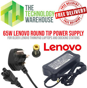 Genuine Lenovo 65w Charger PSU - Round Tip 5.5mm*2.5mm - 19V 3.42A + Power Cable