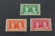 nystamps British New Zealand Stamp # 199-201 Mint OG H $22   A9y2632