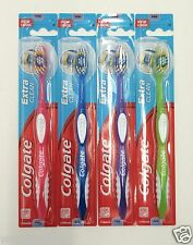 4 Pack Colgate Toothbrush Firm Hard Full Head Extra Clean New