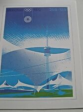 Olympic  Games 1972 IN Munich Germany Official Reproduction 16x12 Offset Litho