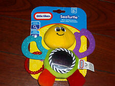 LITTLE TIKES INFANT DISCOVERY SEA TURTLE MIRROR & TEXTURED teething fins & LINK