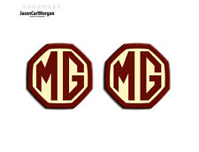 MG ZS ZR MGF LE500 MK1 Compatible Front & Rear Insert Badge 59mm OEM Burgundy