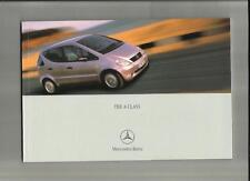 SALE  MERCEDES BENZ A CLASS, A 140, A 160, A170CDI AND A 190  BROCHURE AUG. 2000