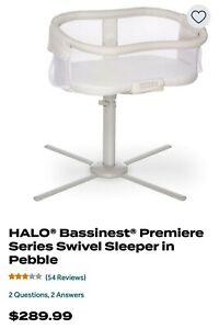 Halo Bassinet premiere series swivel sleeper in pebble