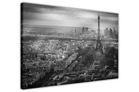 Black and White Paris France on Framed Canvas Wall Pictures Home City Prints
