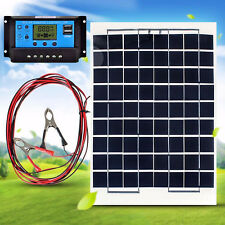 Complete Kit 10W Watt Solar Panel Module + 10A USB LCD Solar Charger Controller