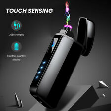 USB Cigarette Lighter Windproof Touch Sensor Dual Arc Electric Lighters Plasma