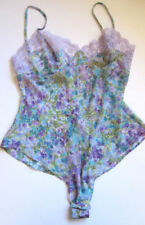 Clothing, Shoes & Accessories Women's Clothing Victoria Secret Medium Blue Frilly See Thru Nightie Lingerie Teddie Guc Pretty
