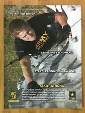 2007 U.S. Army Strong ROTC Print Ad/Poster Official USA Patriotic American Art