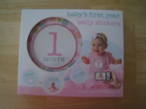 NEW Stepping Stones Girl Baby's First Year Belly Stickers Gift Shower 1 -12 mths