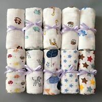 Muslin 100% Cotton Baby Swaddles Soft Newborn Blankets Bath Gauze Infant Wrap
