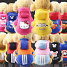 Cartoon Small Dog Clothes Pet Puppy Hoodied Dog Cat Apparel 13 Colors XS-XXL