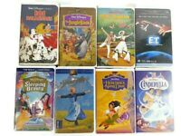 Lot 8 Family VHS Movies Cartoons Disney Masterpiece Collection & Black Diamond