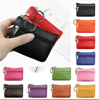 Simple Women Mini Purse Pouch Leather Bag Small Zipper Coin Purse Holder Wallet