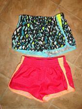 2 Pair Little Girls C9 Champion Athletic Running Shorts Size Xs 4-5
