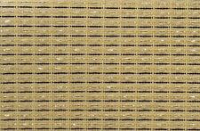 "Fender Beige Brown gold  Stripe 28x36"" grill cloth fabric amp speaker cabinet"
