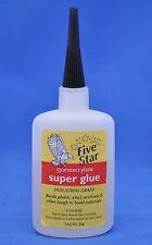 Five Star Super Glue Industrial Grade Bonding Adhesive Cyanoacrylate- 2oz NEW