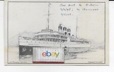 CANADIAN PACIFIC  PRINCESS KATHLEEN 1948 SEATTLE/VICTORIA E.COODALL POSTCARD