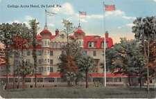 De Land Florida College Arms Hotel Antique Postcard J64543