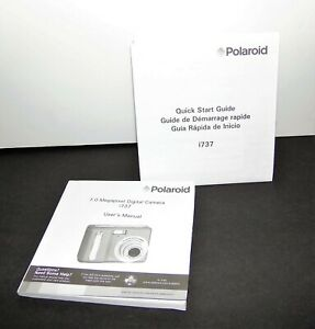 Polaroid 7.0 Megapixel Digital Camera i737 User's Manual  Quick Start Guide Only