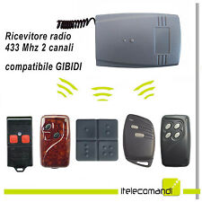 Ricevente radio ricevitore 433 Mhz 2 canali compatibile con GIBIDI fix e rolling