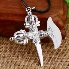 New 925 Sterling Silver the Vajra Ax Buddhism Blessing Pendant 12g