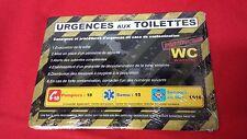 PLAQUE DE RUE HUMORISTIQUE EN TOLE - URGENCES AUX TOILETTES - REF23067