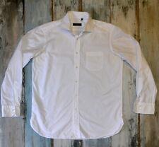 """- HUGO BOSS MEN'S WHITE FORMAL SHIRT size 43 (17"""") XL"""