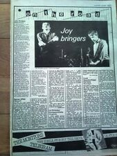 JOY DIVISION Manchester concert review 1979 UK ARTICLE / clipping