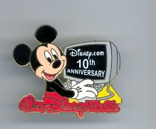 Disney Mickey Mouse on Computer 10th Anniversary Disney.com Shopping Website Pin