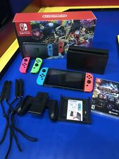 Nintendo Switch w/Blue,Red,green,pink Joy-Con Controllers and Mario Kart 8 &...