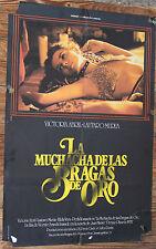 Cartel Cine LA MUCHACHA DE LAS BRAGAS DE ORO Vintage Movie Erotic Film Poster